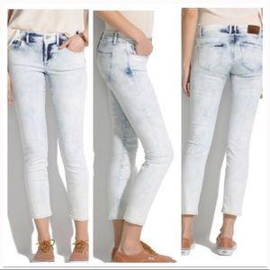 Madewell Skinny Crop Acid Wash Storm Wash Jeans